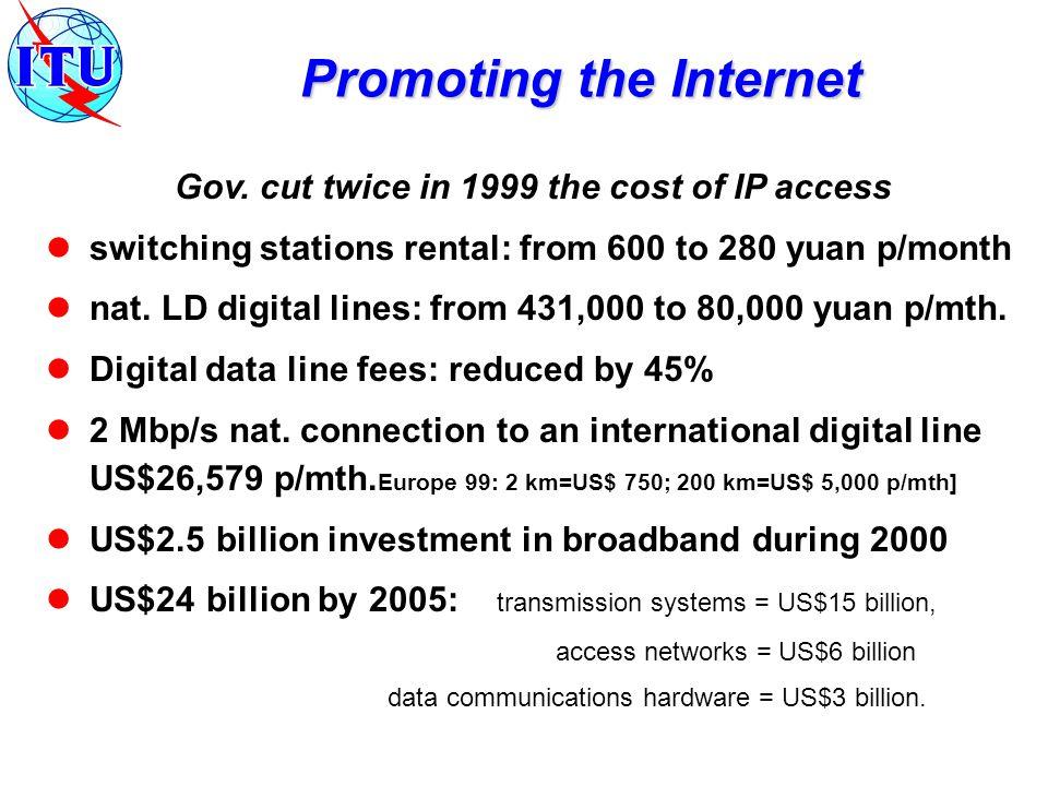 Internet hosts x 10'000 people : 4.41 (98) Users x 10'000 people :46.3 (98) Nro.