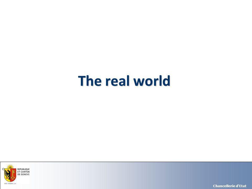 Chancellerie d Etat The real world