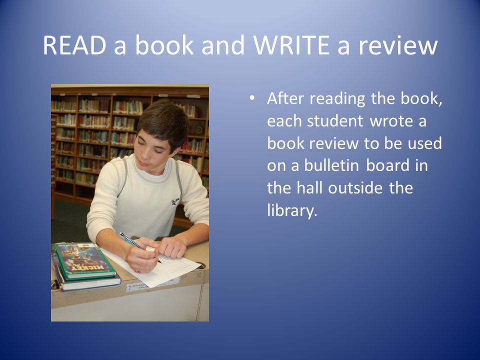 Book Review The book review asked for the title of the book, the author, and a short review of the book.