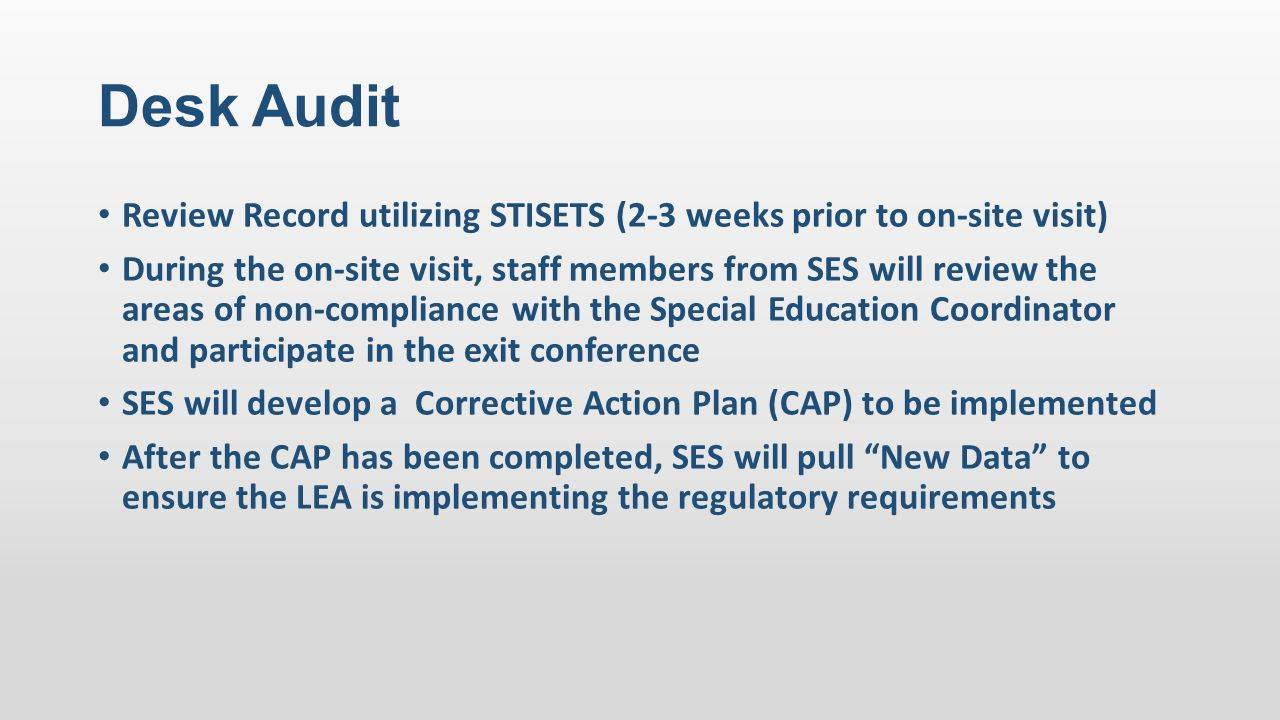 Phase IV consists of a customized approach for examining LEA data submitted through the district-approved process.