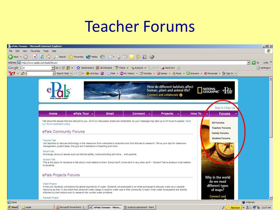Teacher Forums