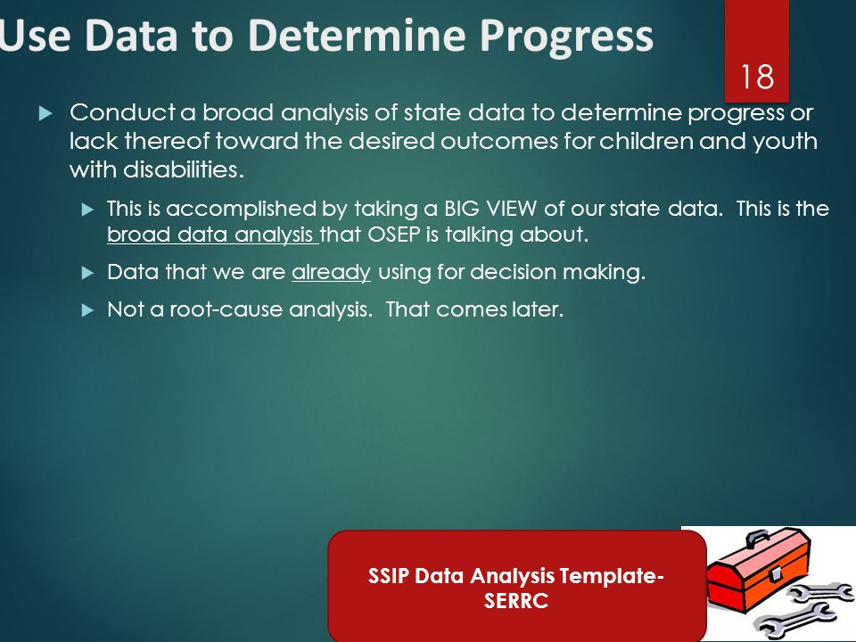Data Analysis Broad Analysis Infrastructure Analysis Broad Analysis Focus for Improvement Theory of Action Data Analysis In-depth Analysis Related to Primary Concern Area Infrastructure Analysis In-depth Analysis Related to Primary Concern Area Phase I Components Data Analysis Broad Analysis