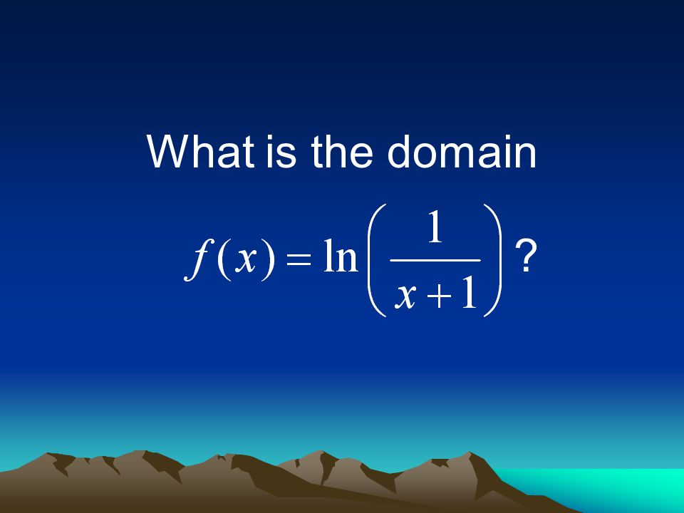 What is the domain