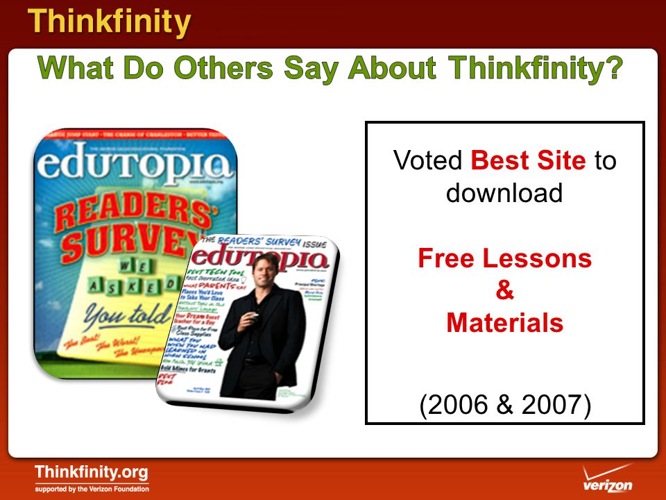 Voted Best Site to download Free Lessons & Materials (2006 & 2007)