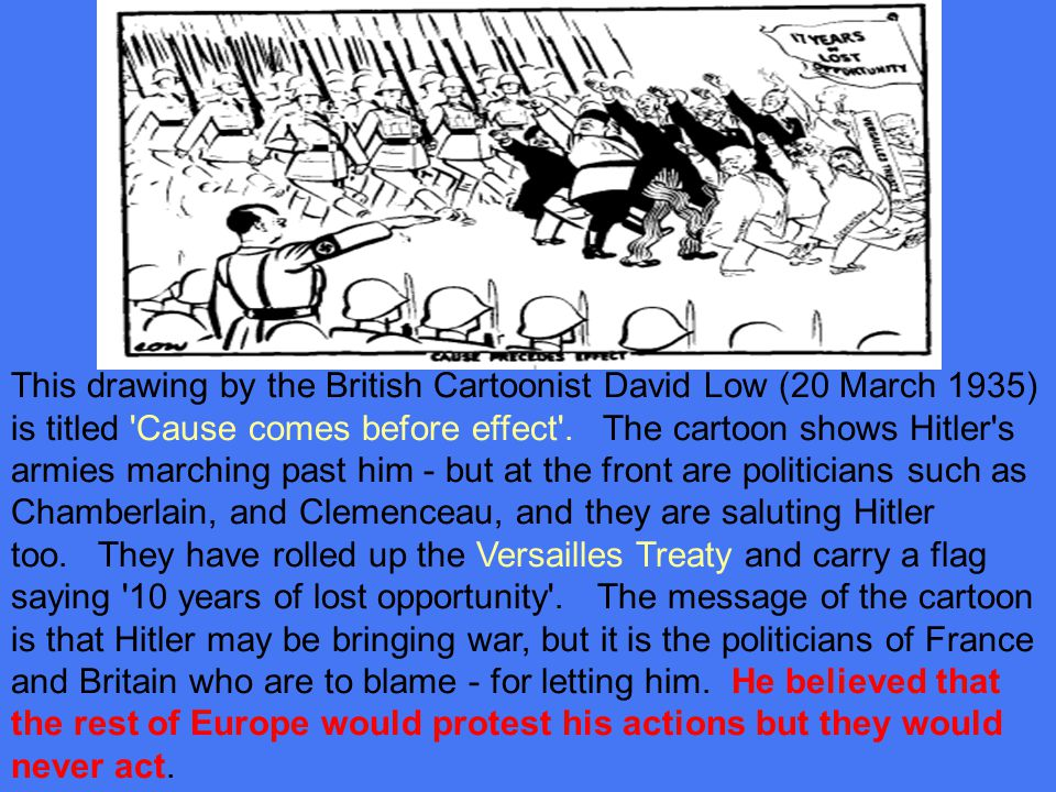 Chamberlain&Hitler1938 Great Britain and France did not want to repeat the bloodshed of World War I.