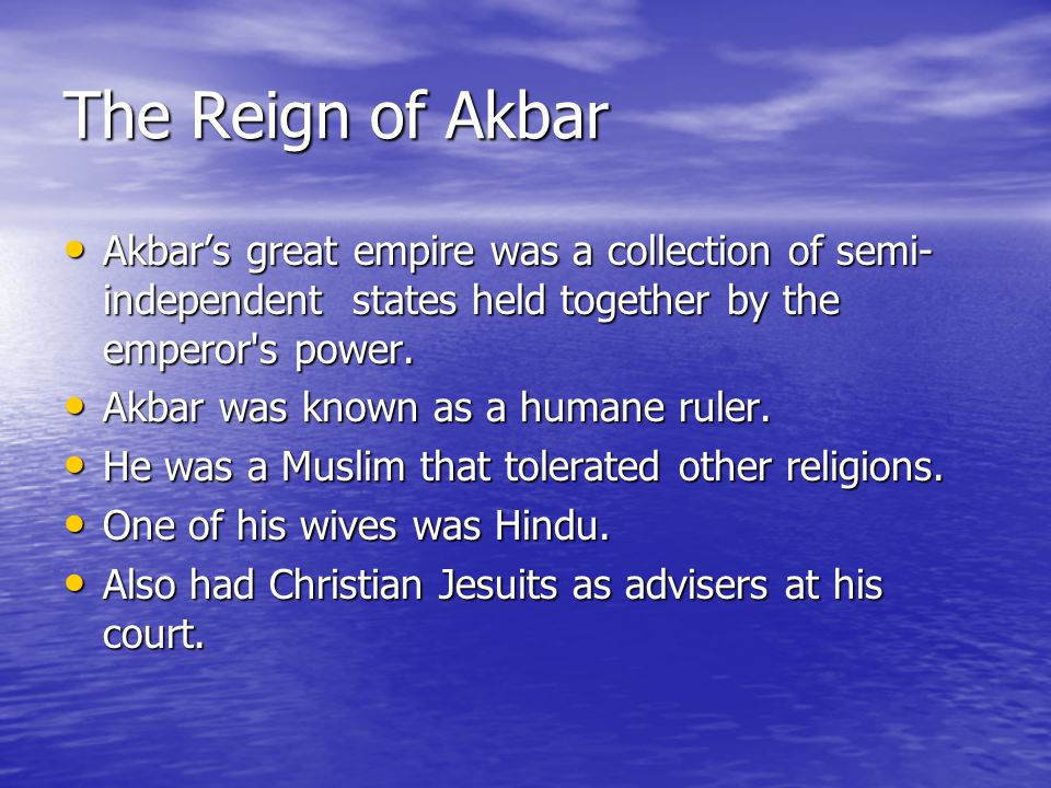 The Reign of Akbar Upper ranks of the administration were filled with non-native Muslims, but lower- ranking officials were generally Hindus.