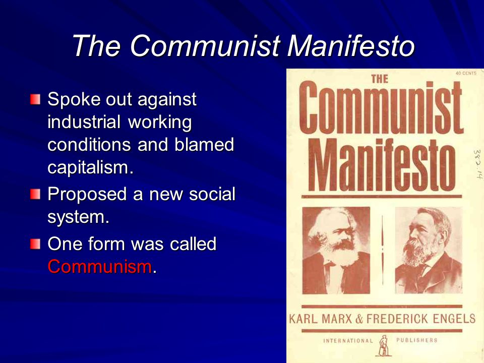 Karl Marx Karl Marx developed the theory socialism was based on. 1848 – The Communist Manifesto