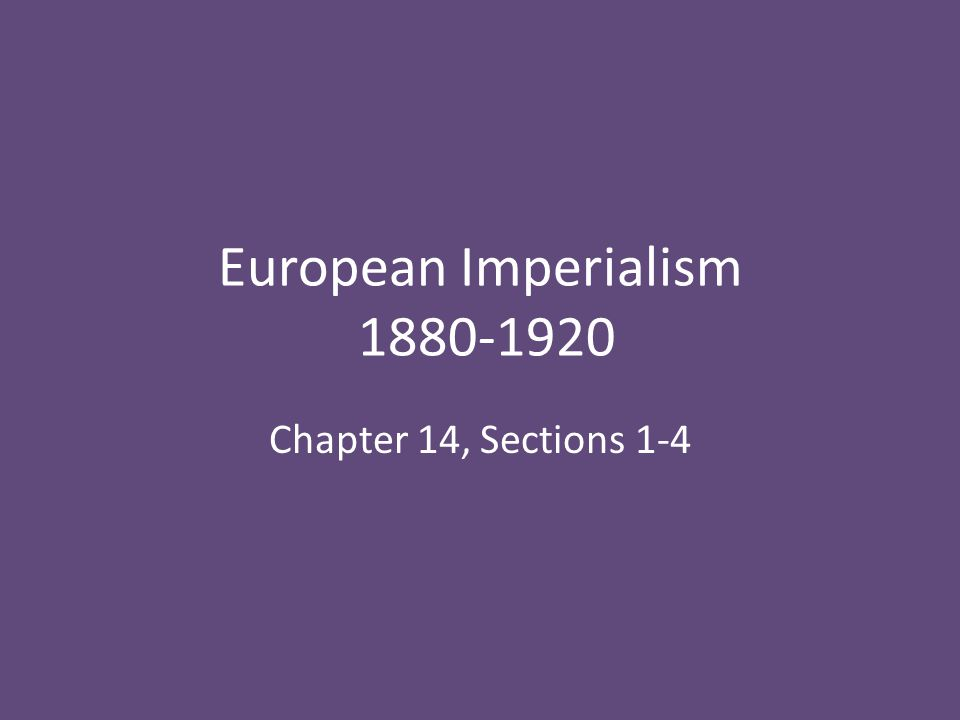 Imperialism Imperialism is the extension of a nation's power over other lands – 1800s brought new focus Two forms: – Indirect Rule – Local rulers allowed to maintain position – Direct Rule – Local rulers removed, replaced w/leaders from mother country Motives.