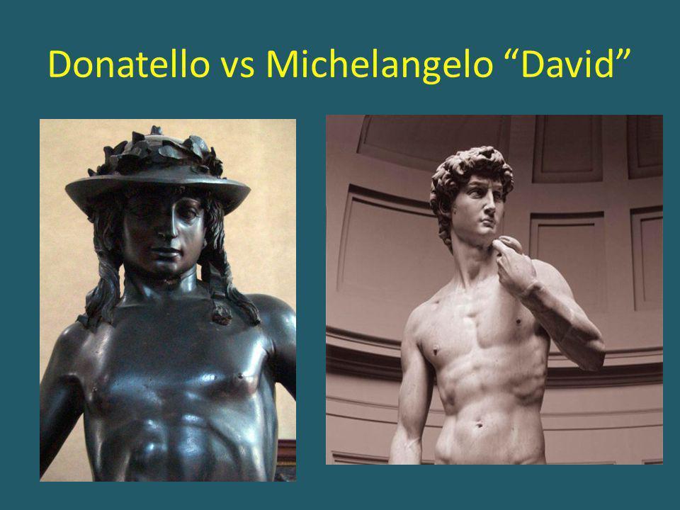 "Donatello vs Michelangelo ""David"""