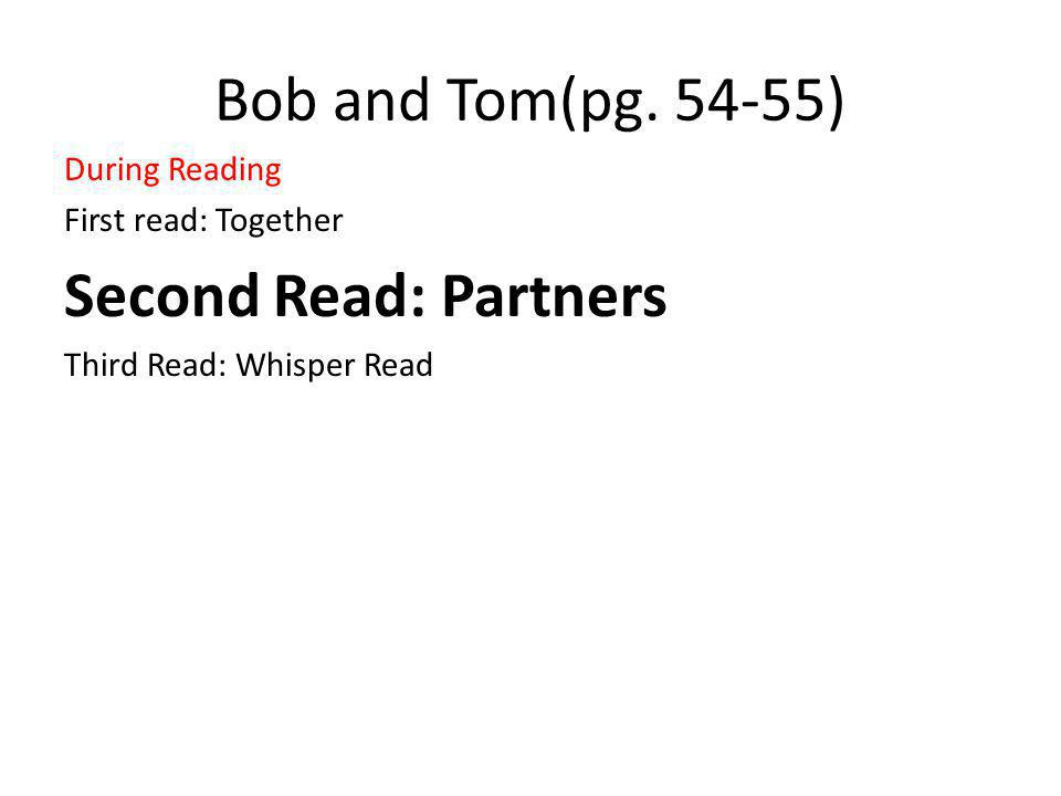 Bob and Tom(pg.