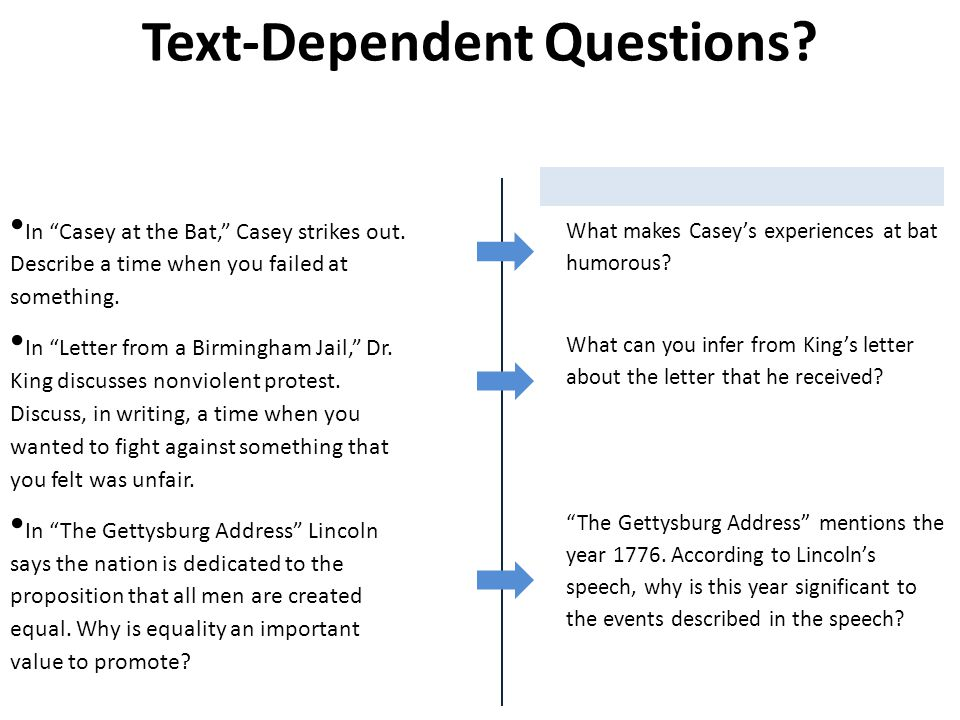 Text-Dependent Questions. In Casey at the Bat, Casey strikes out.