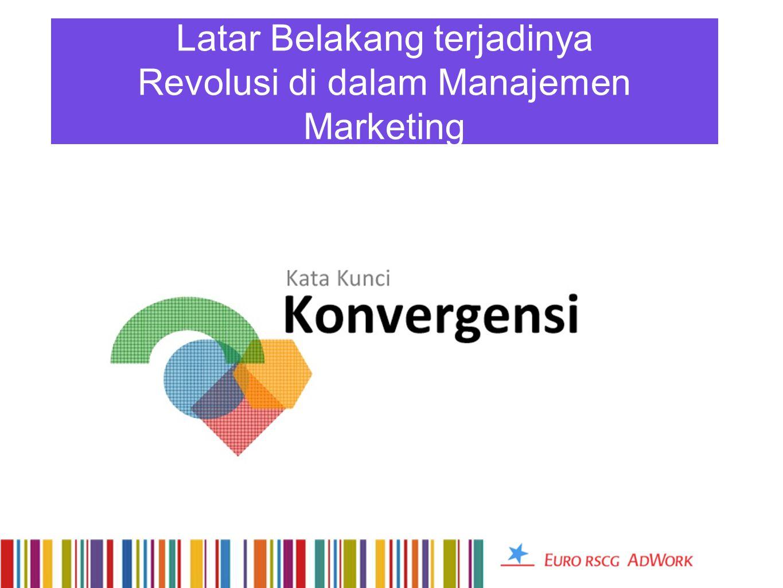 Latar Belakang terjadinya Revolusi di dalam Manajemen Marketing