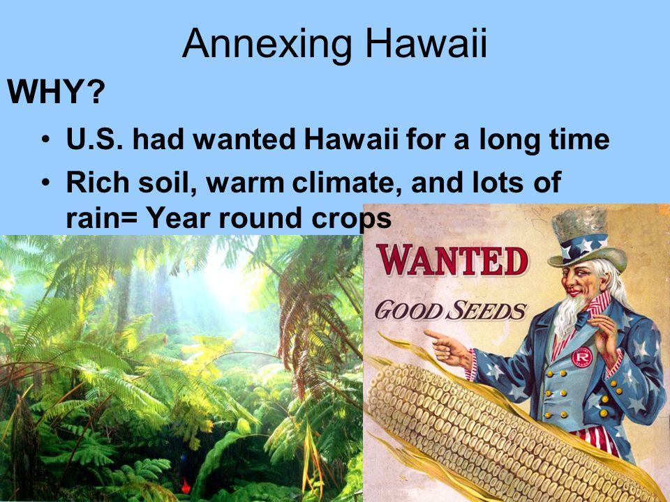 Annexing Hawaii U.S.