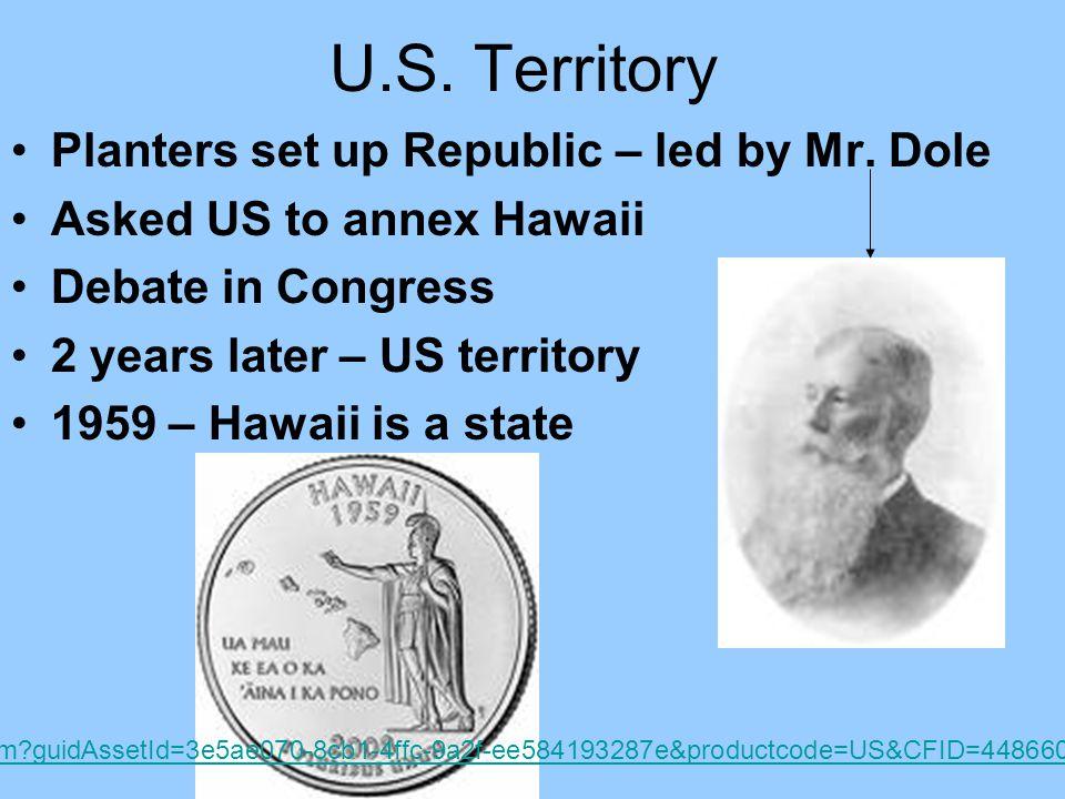 U.S. Territory Planters set up Republic – led by Mr.