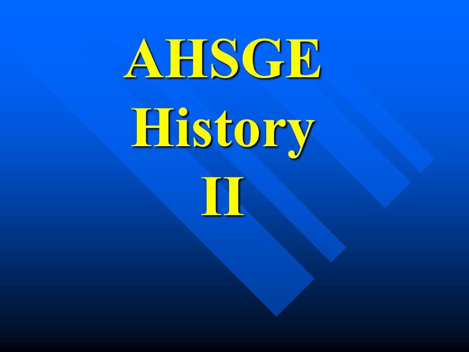 AHSGE History II