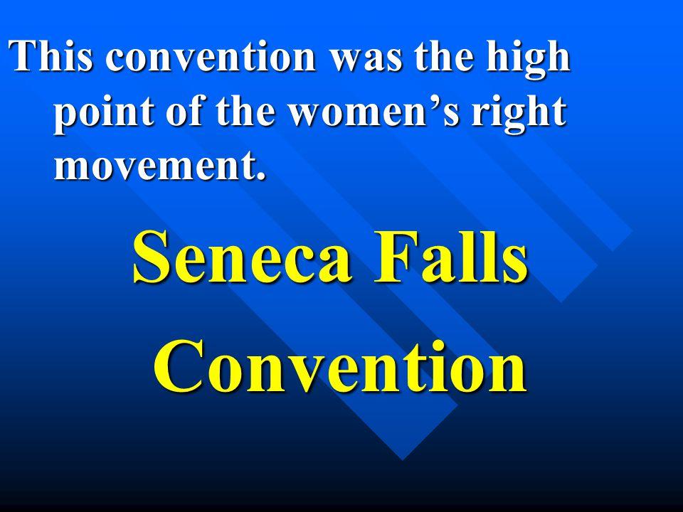 Seneca Falls Convention Convention