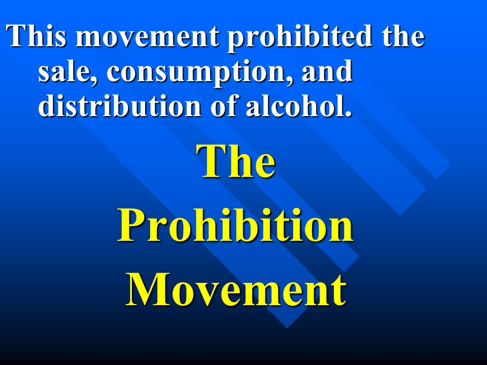 TheProhibitionMovement