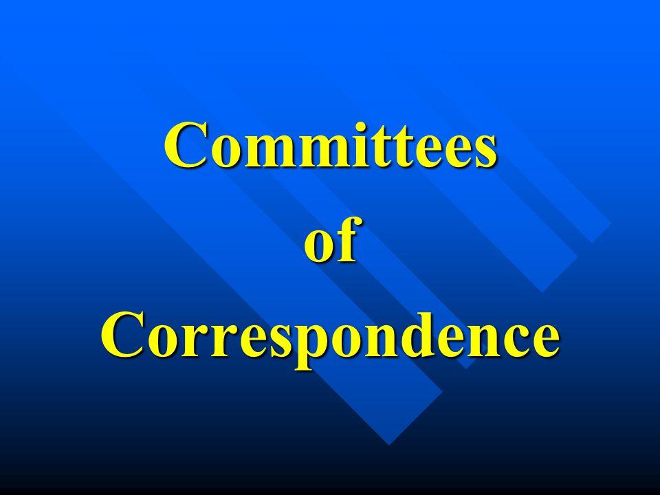 CommitteesofCorrespondence