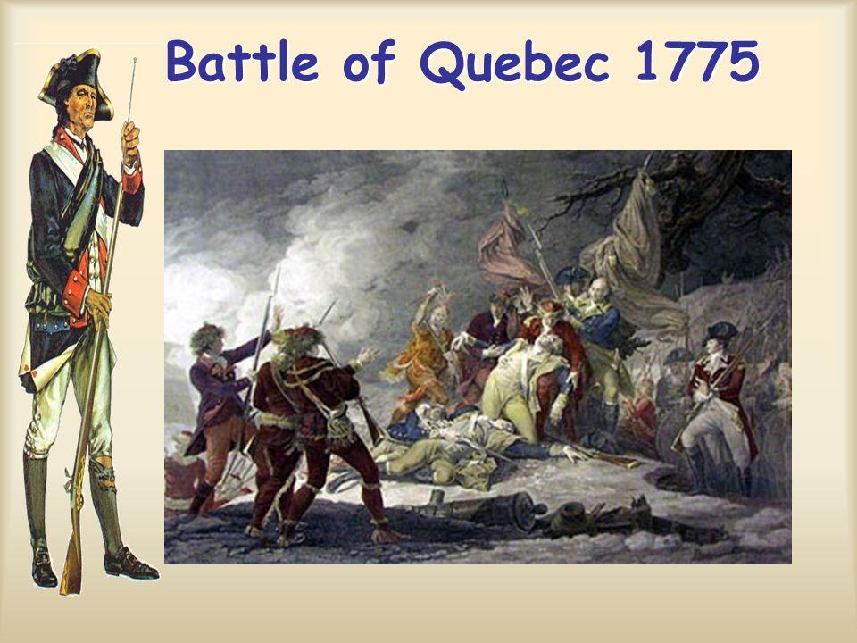 Battle of Quebec 1775 Battle of Quebec 1775