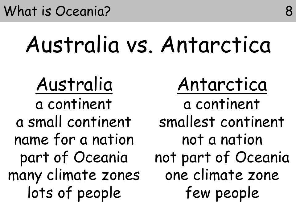 8What is Oceania.