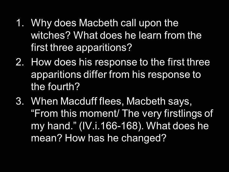 4.Why does Macbeth kill Macduff's wife and child.