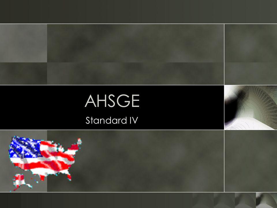 AHSGE Standard IV