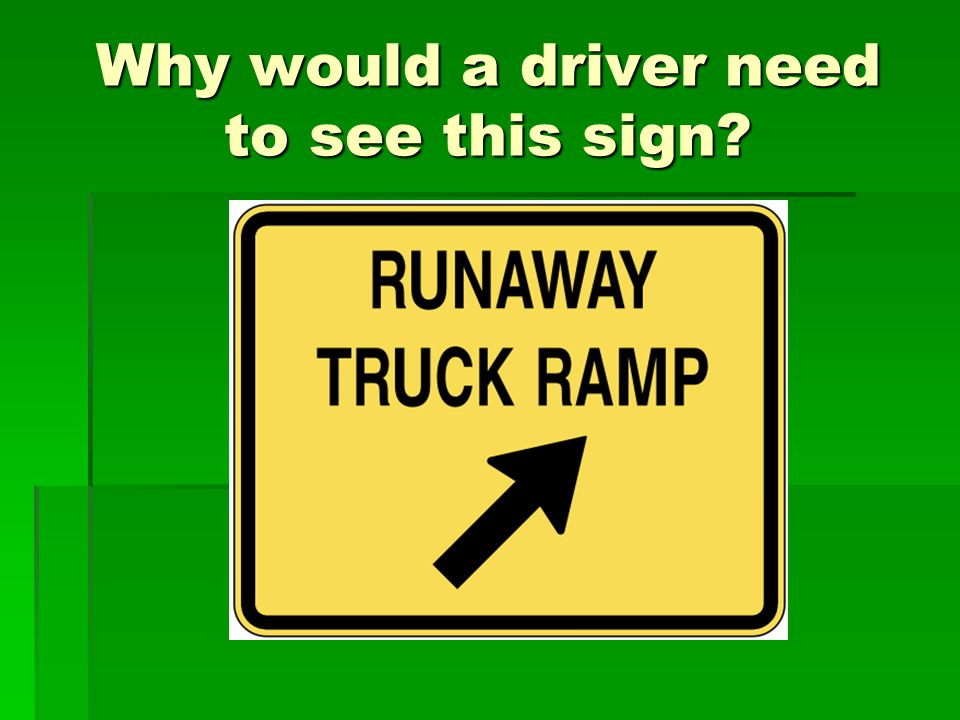 Here is a picture of a run- away truck ramp.  Have you seen one before? Where?