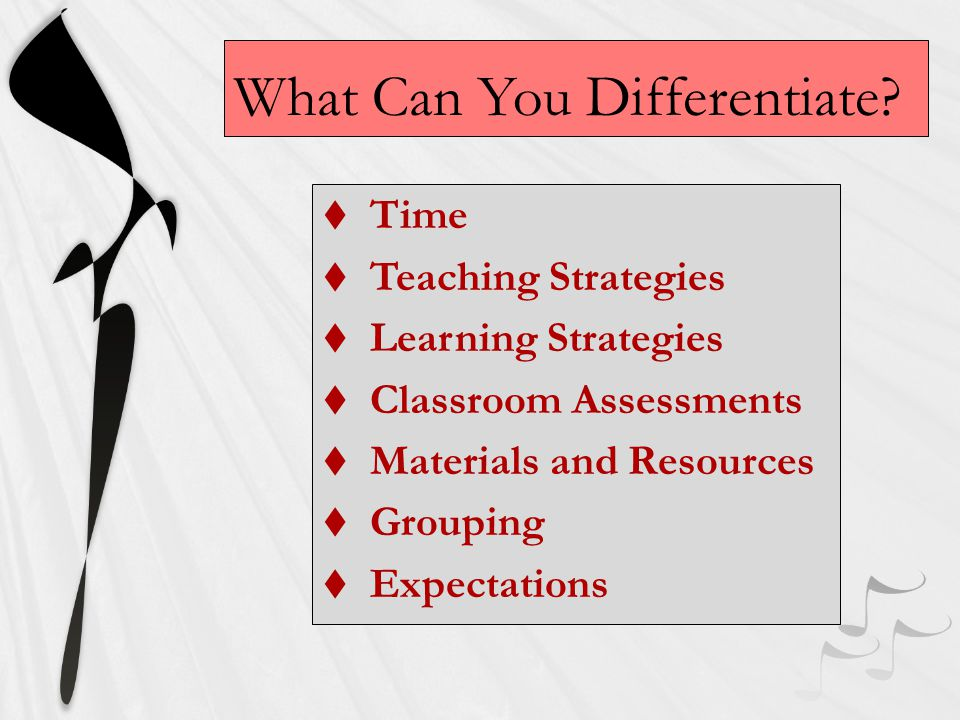 What Can You Differentiate.