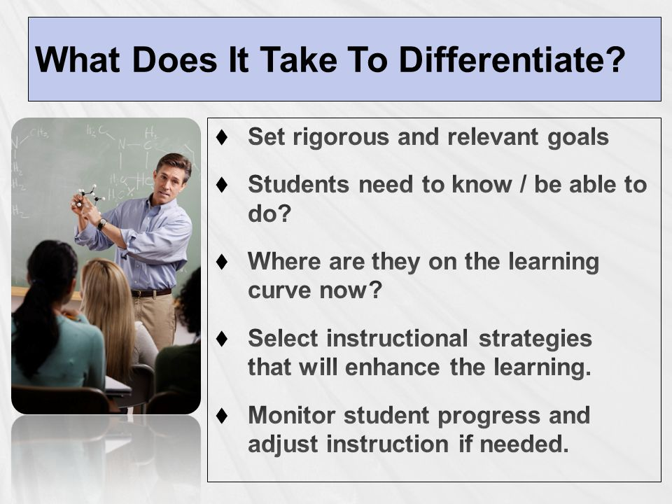 What Does It Take To Differentiate.