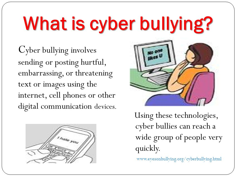 C yber bullying Resources Keeping children safe in cyberspace becomes more important as new technology develops.