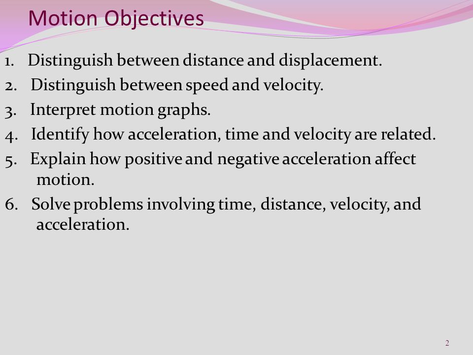 Worksheets Displacement Vs Distance Worksheet Answer Key chapter 2 physical science 1 motion objectives distinguish between distance and displacement speed and