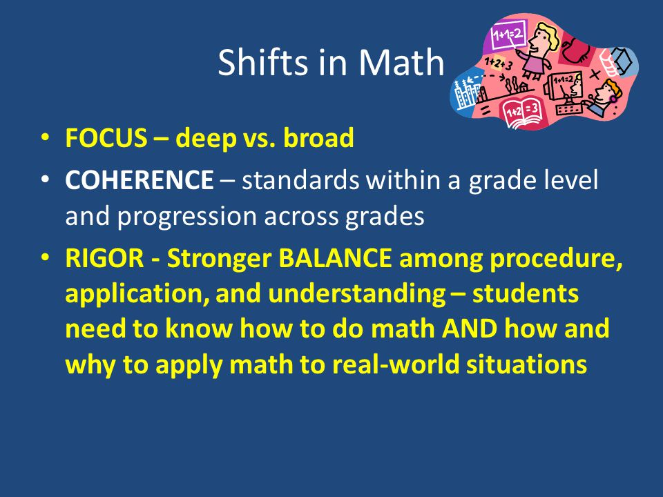 Shifts in Math FOCUS – deep vs.