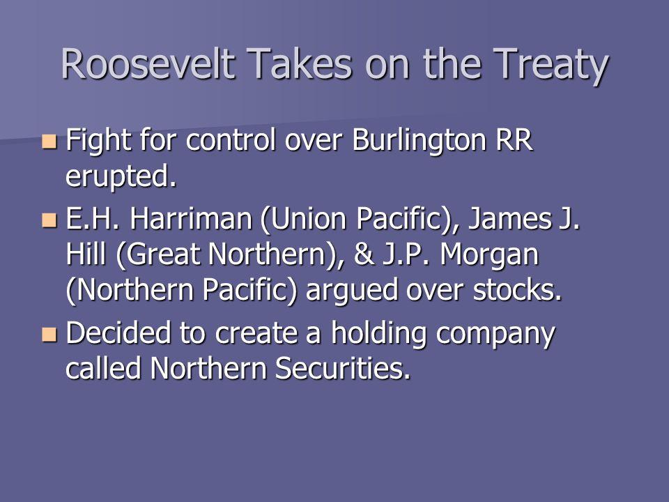 Roosevelt Takes on the Trusts Roosevelt felt that N.