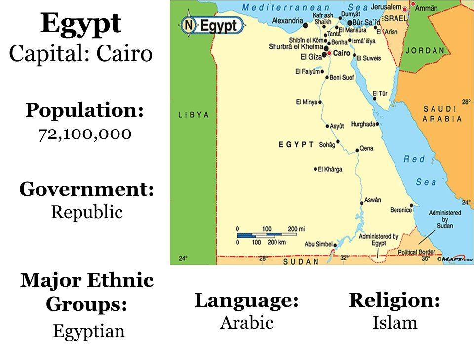 Jordan Capital: Amman Population: 5,500,000 Government: Constitutional Monarchy Language: Arabic Religion: Islam Major Ethnic Groups: Arab