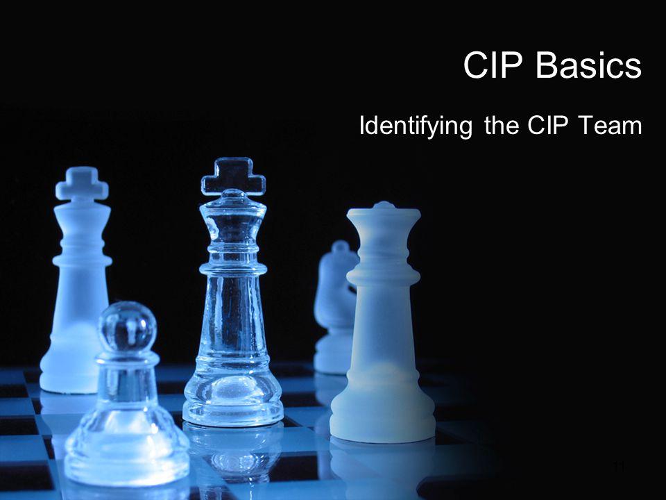 CIP Basics Identifying the CIP Team 11