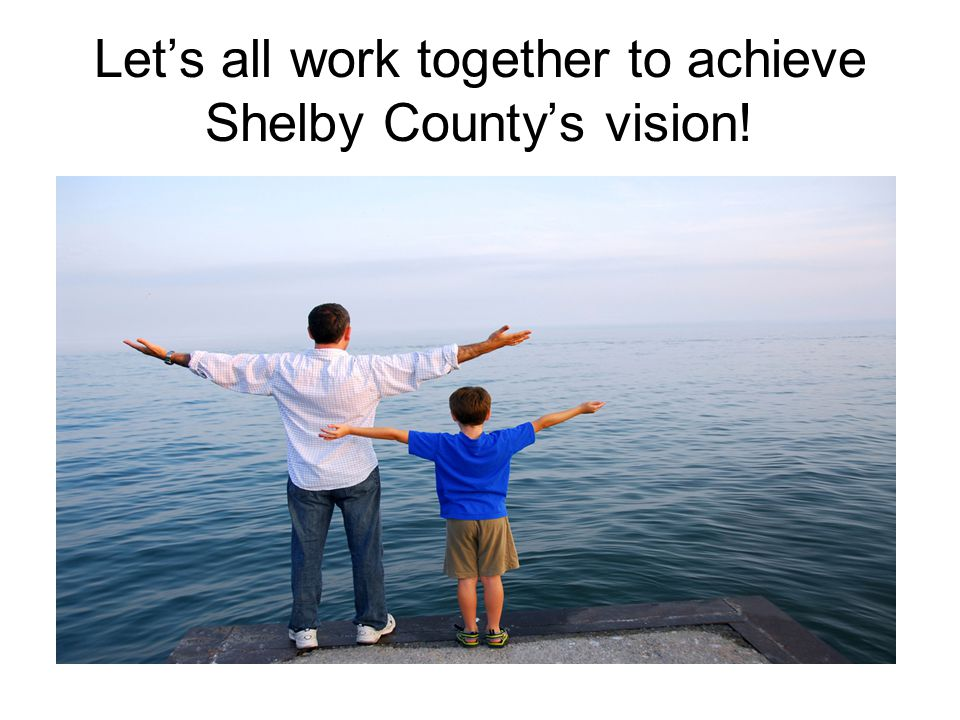 Let's all work together to achieve Shelby County's vision! Action Plans VISION To become a model for excellence in education on the local, state, nati