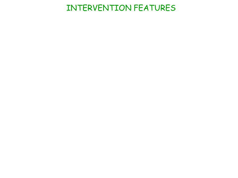 INTERVENTION FEATURES
