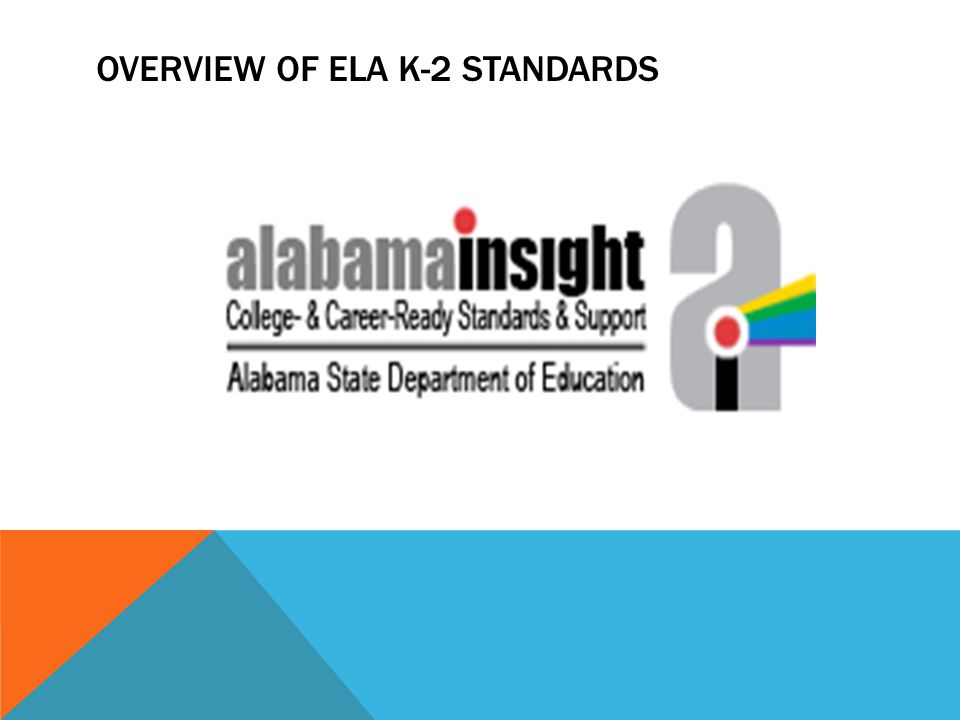 OVERVIEW OF ELA K-2 STANDARDS