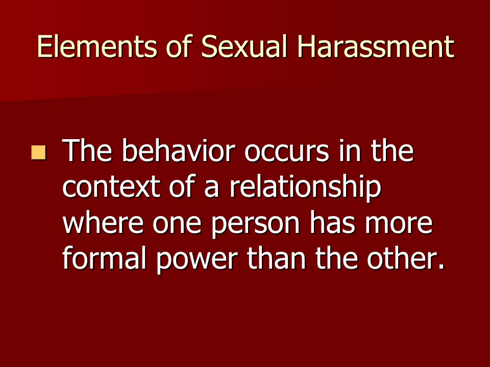 Forms of Sexual Harassment COVERT  Pictures that are graphic, sexually explicit, degrading or humiliating  Jokes that contain sexual overtones  Insulting sounds, obsene gestures, or suggestive behaviors  Repeatedly emphasizing sexuality or the sexual identity of an individual in comments