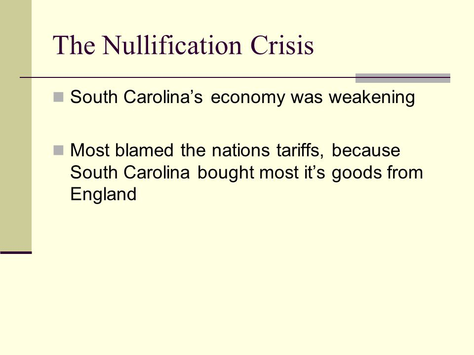 When Congress passed the Tariff of Abominations (called by its critics), South Carolina threatened to secede