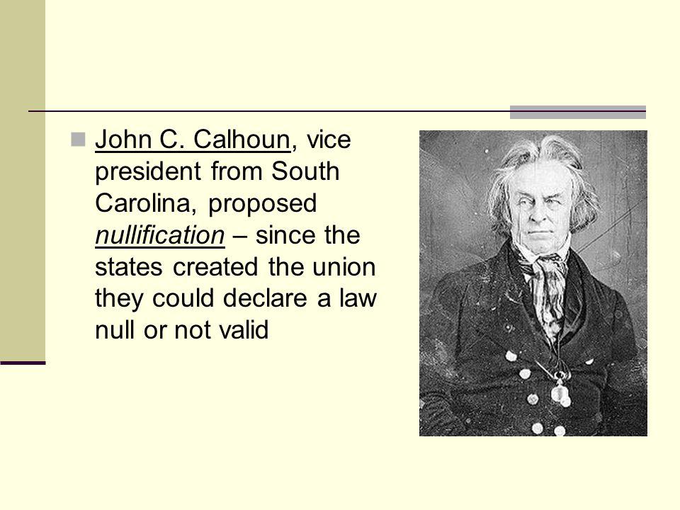 The debate surfaced again in 1830 in the Senate with Robert Hayne of S.C.