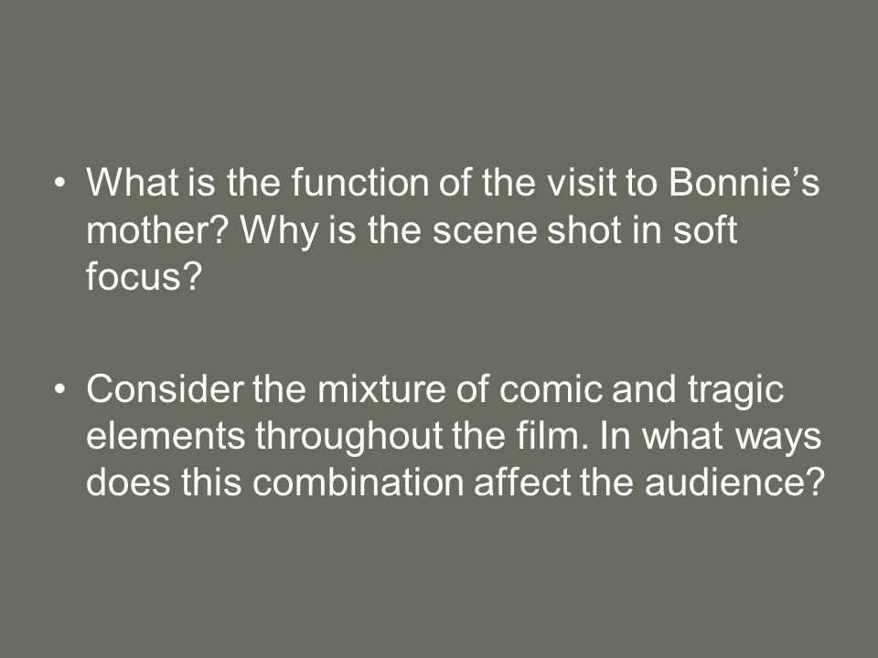 What is the function of the visit to Bonnie's mother.