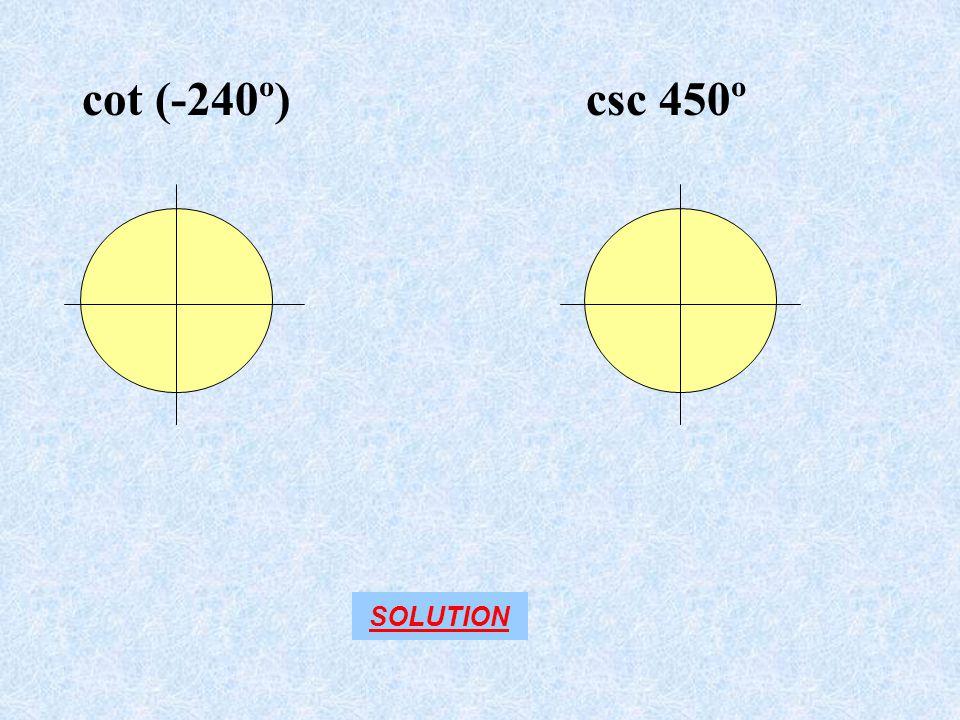 csc 450ºcot (-240º) SOLUTION
