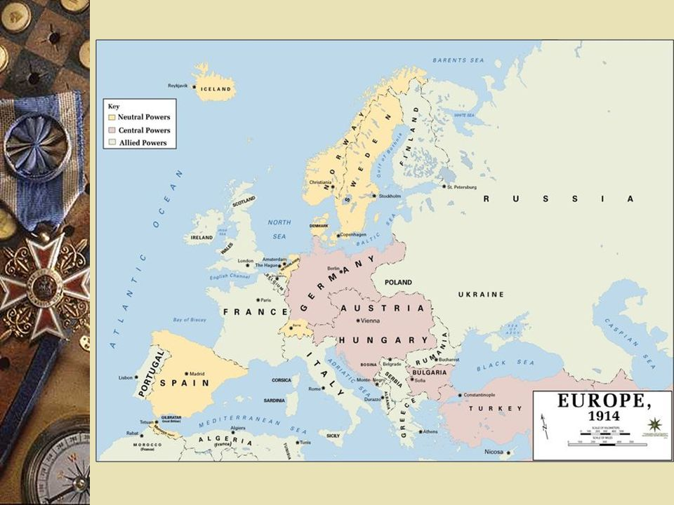  Who were the Central Powers? – Italy (yes then no) – Austria-Hungary – Germany – Ottoman Empire – Bulgaria