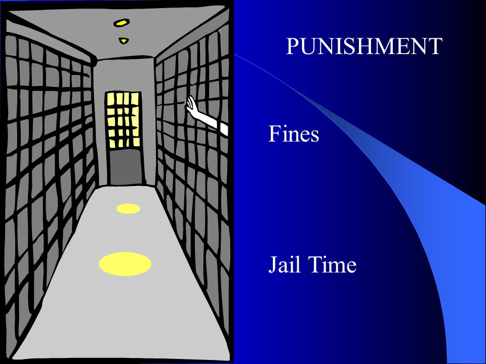 PUNISHMENT Fines Jail Time