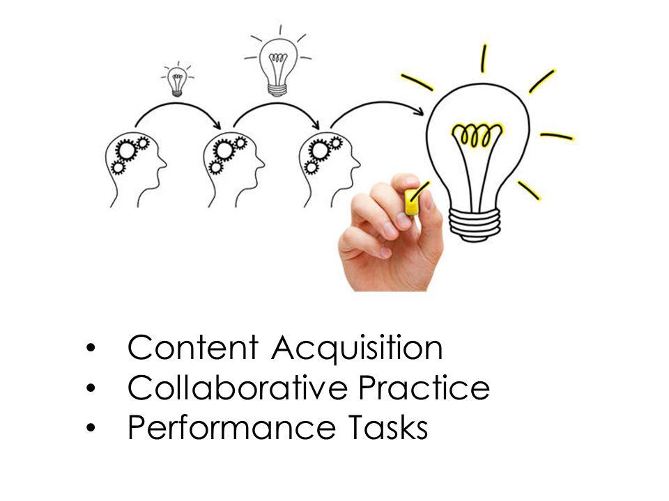 Content Acquisition Collaborative Practice Performance Tasks