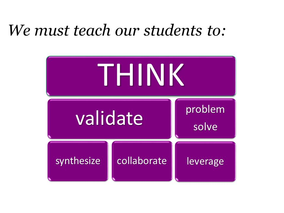 65% of class should be student-to-student interaction….