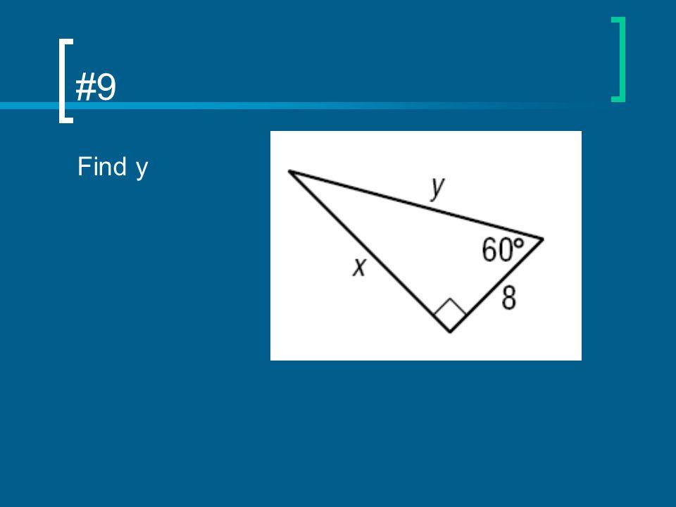 #9 Find y