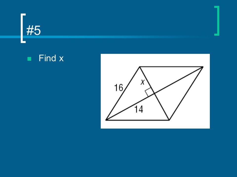 #5 Find x