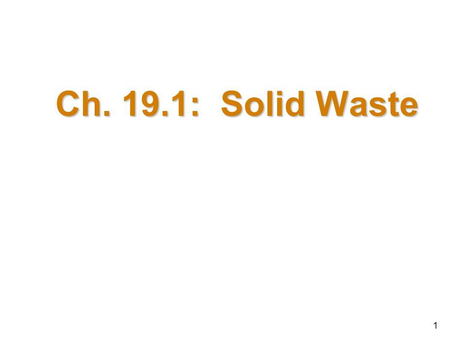 1 Ch. 19.1: Solid Waste